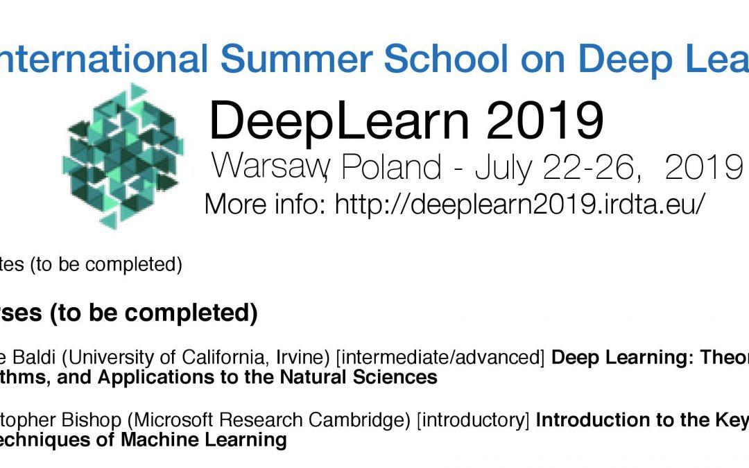 3rd International Summer School on Deep Learn 2019