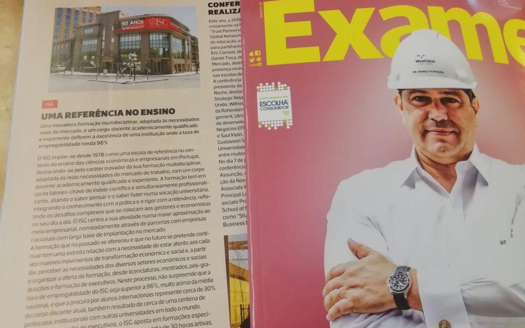ISG na edição de Junho da Revista EXAME!