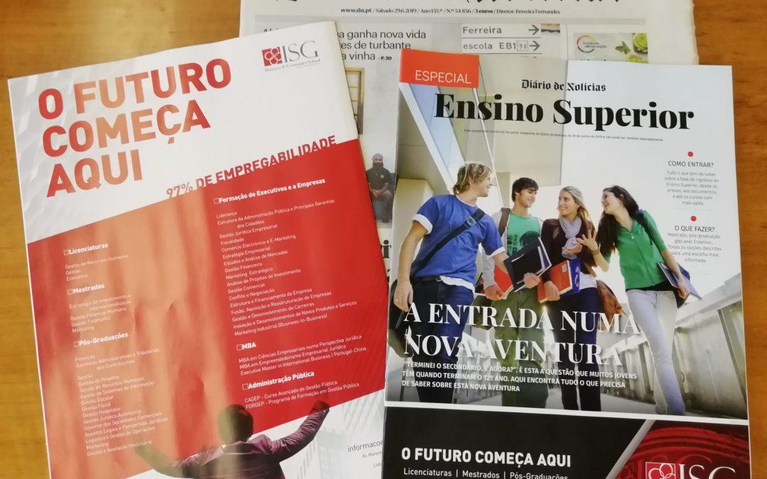 ISG na Edição Especial do Ensino Superior do Diário de Notícias