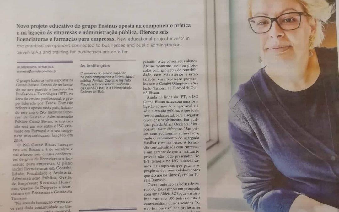 ISG Guiné – Bissau no Jornal Económico