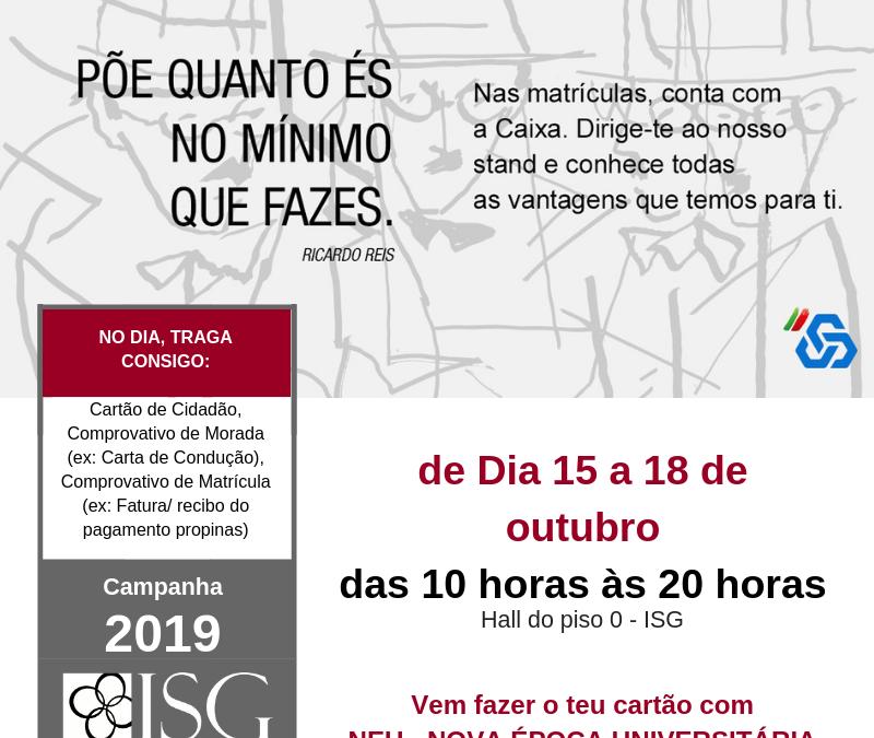 NEU  – NOVA ÉPOCA UNIVERSITÁRIA 2019