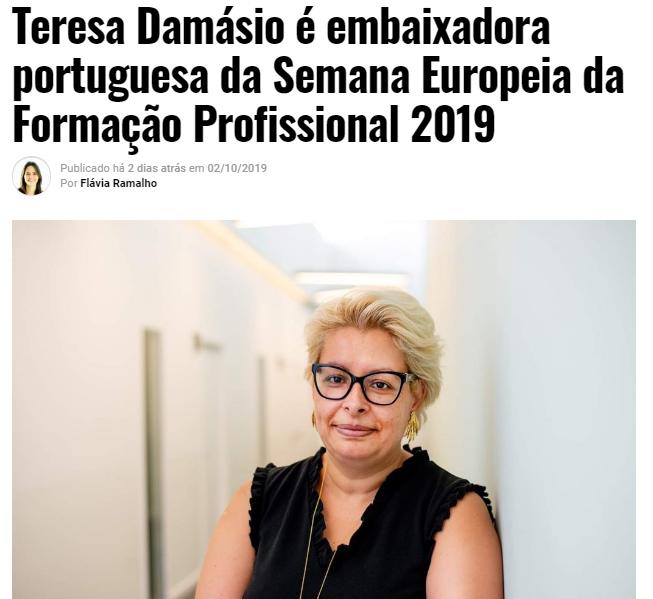 Participação da Senhora Administradora do Grupo Ensinus como embaixadora portuguesa da Semana Europeia da Formação Profissional 2019 na Mais Educativa