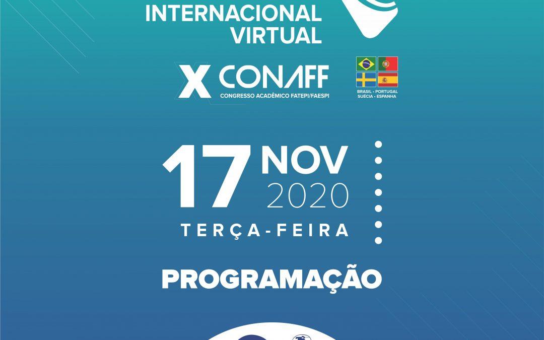 ISG PARCEIRO DO CONGRESSO INTERNACIONAL VIRTUAL – X CONAFF