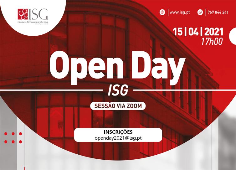Open Day Virtual do ISG com Mais Educativa como Media Sponsor