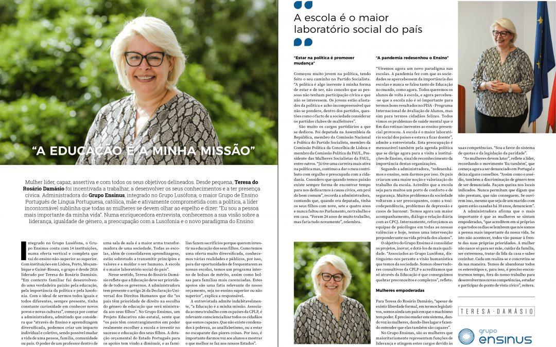 Entrevista Dra. Teresa do Rosário Damásio – Revista Gestão Empresarial