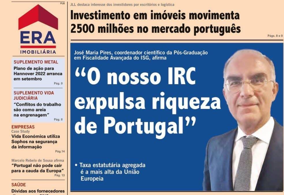 O nosso IRC expulsa riqueza de Portugal