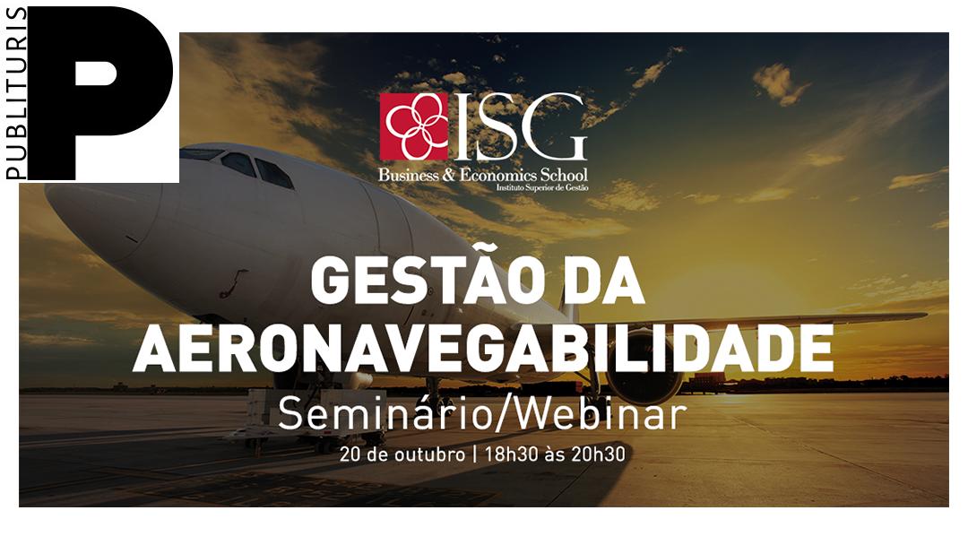 """Seminário / Webinar """"Gestão da Aeronavegabilidade"""" na Publituris"""